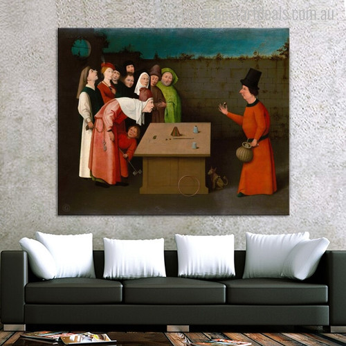 The Conjurer Vintage Mix Artists Artwork Picture Print for Living Room Wall Molding