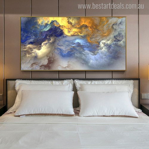 Clouds Abstract Modern Oil Painting Picture Canvas Print for Bedroom Wall Getup