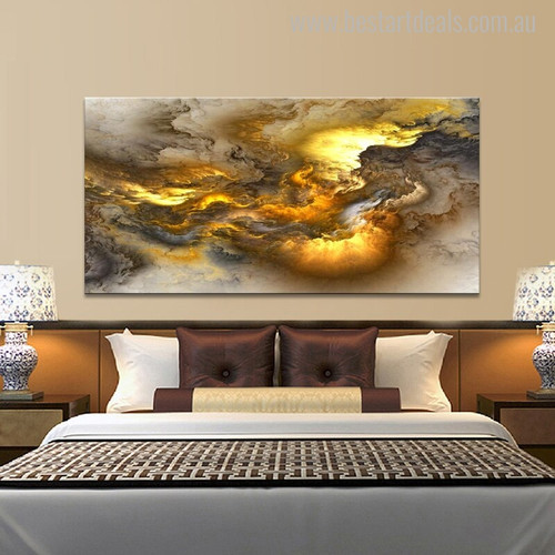 Creative Palls Modern Abstract Oil Portmanteau Image Print for Bedroom Wall Decor