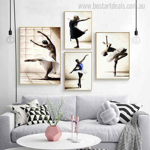 Dancer Wenches Modern Figure Canvas Artwork Print for Lounge Room Wall Outfit