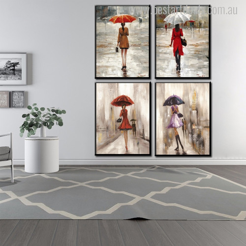 Dames Abstract Figure Modern Painting Canvas Print for Home Wall Garnish