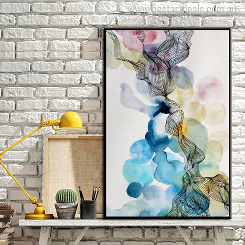 Dark Spots Abstract Modern Watercolor Painting Canvas Print for Room Wall Outfit
