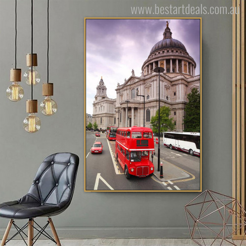 St Paul's Cathedral Cityscape Contemporary Portrait Canvas Print for Lounge Room Wall Assortment
