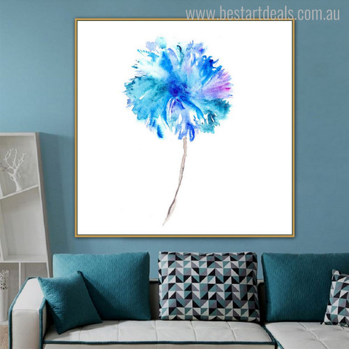 Flower Modern Abstract Botanical Nordic Painting Picture Print for Living Room Wall Tracery