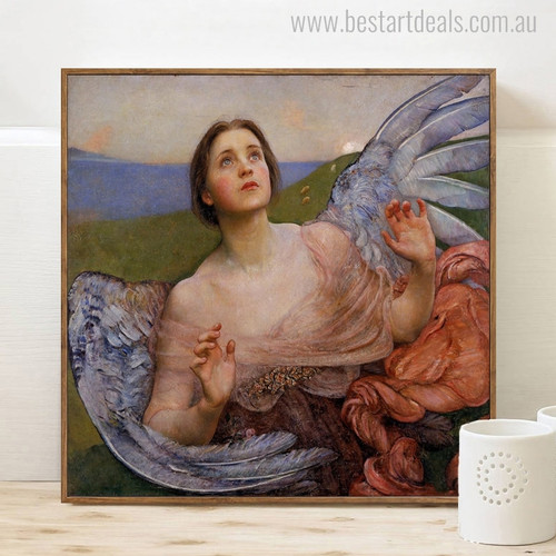 Sense of Sight Mix Artists Vintage Painting Canvas Print for Room Wall Decor
