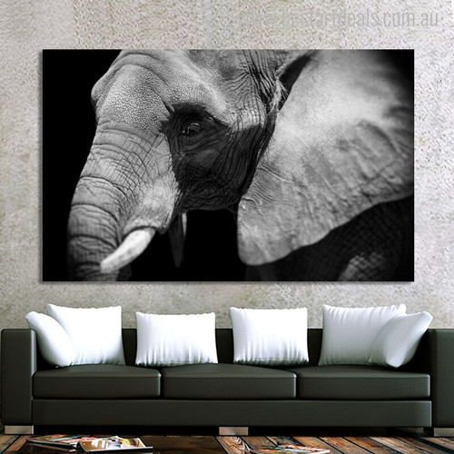 Wild Elephant Animal Modern Painting Canvas Print for Room Wall Garniture