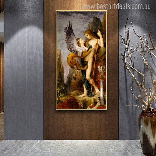 The Sphinx Gustave Moreau Mix Artists Painting Canvas Print for Room Wall Outfit