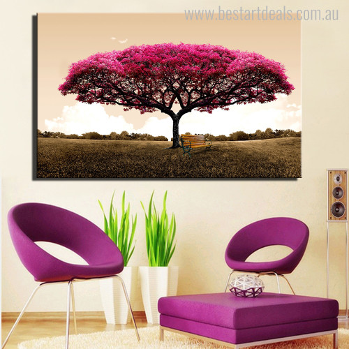 Garden Nature Landscapes Botanical Painting Canvas Print for Home Wall Decor