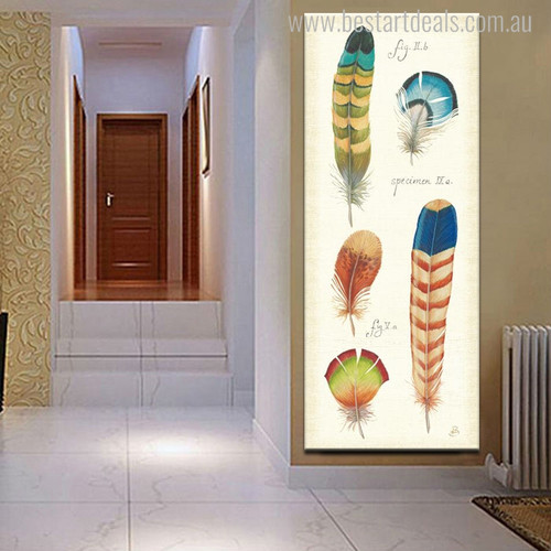Specimen Wings Abstract Modern Canvas Artwork Print for Wall Tracery