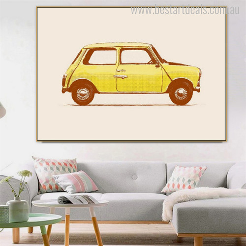 Mini Cooper Vintage Nordic Minimalist Painting Canvas Print for Living Room Wall Assortment