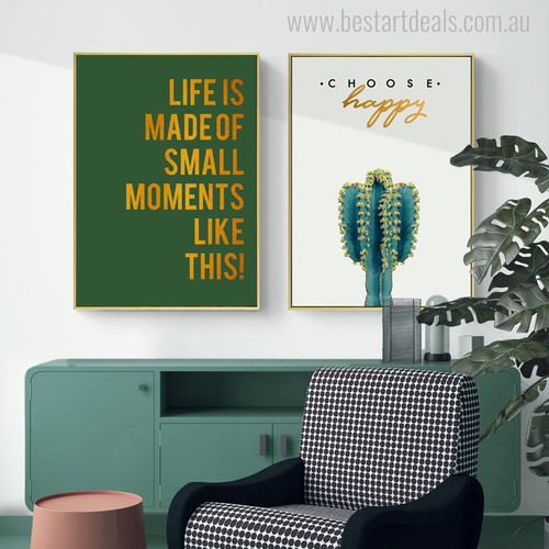 Moments Like This Botanical Nordic Quotes Painting Canvas Print for Living Room Wall Decor