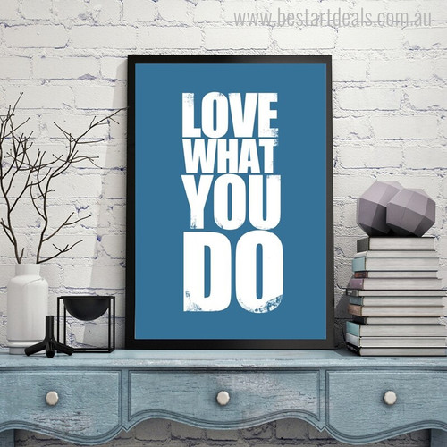 Love Modern Quotes Painting Canvas Print for Study Room Wall Decoration