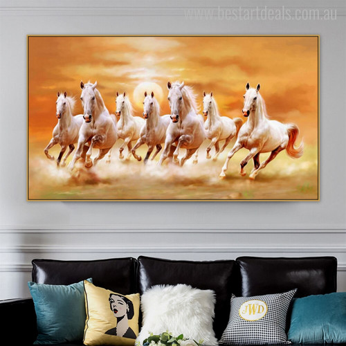 Horses Animal Modern Painting Canvas Print for Living Room Wall Getup