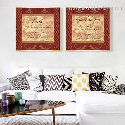 Faith Spirit Quotes Vintage Canvas Artwork Print for Home Wall Garnish