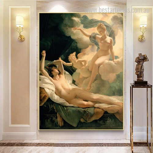 Biblical Angels Reproduction Vintage Canvas Artwork Print for Home Wall Getup