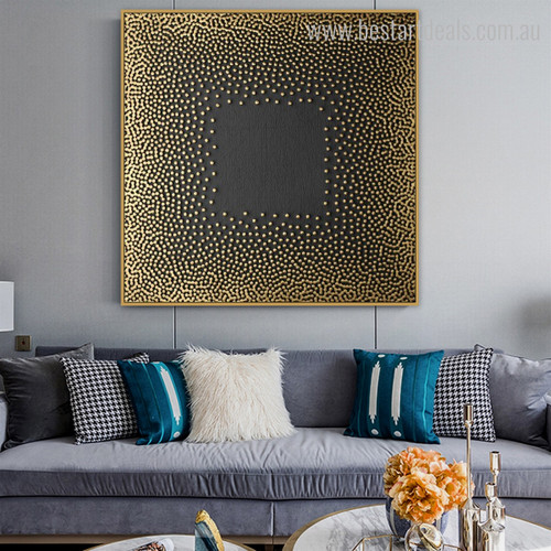 Circular Spots Modern Painting Image Canvas Print for Room Wall Ornament