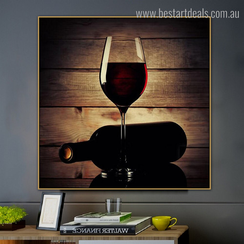 Hooch Framed Modern Food and Beverages Effigy Photo Canvas Print for Room Wall Garnish