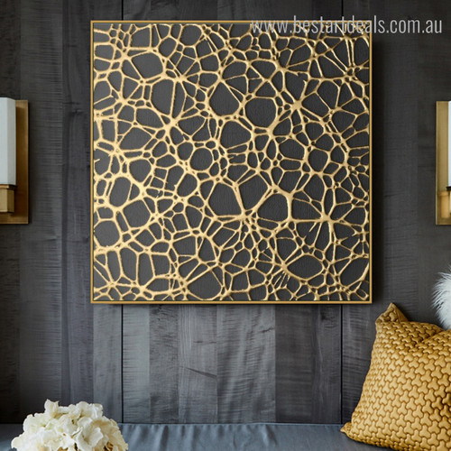 Abstract Framed Painting Image Print for Room Wall Drape