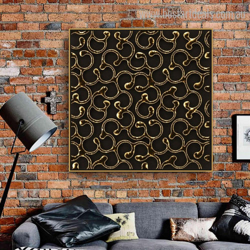 Glossy Abstract Modern Framed Painting Picture Canvas Print for Lounge Room Wall Decor