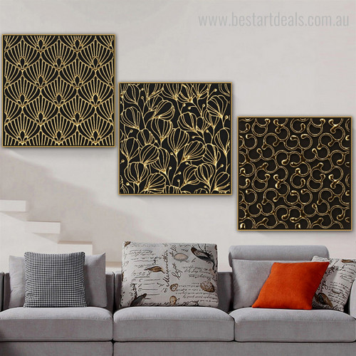 Glistening Abstract Modern Framed Canvas Artwork Picture Print for Lounge Room Wall Adornment