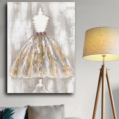 Modern Dress Abstract Framed Handmade Canvas Artwork Photo Print for Room Assortment