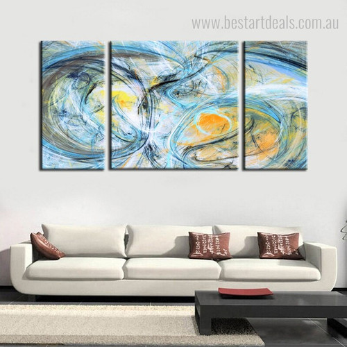 Imaginative Lines Abstract Modern Framed Painting Picture Canvas Print for Lounge Room Wall Molding