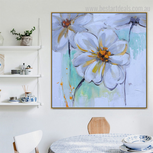 Chromatic Blooms Abstract Watercolor Framed Vignette Portrait Canvas Print for Room Wall Decor