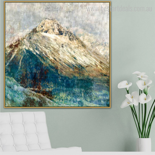 Golden Hills Abstract Framed Nature Scheme Photo Canvas Print for Room Wall Outfit