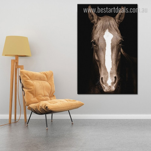Long Hair Horse Modern Animal Painting Picture Canvas Print for Room Wall Outfit