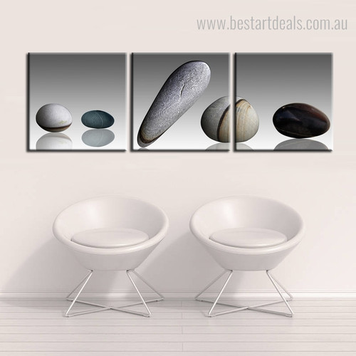 Stones Minimalist Framed Nordic Painting Photo Canvas Print for Room Wall Decor