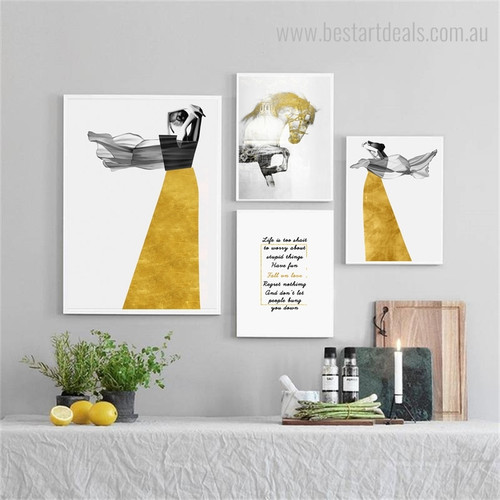 Dona and Studhorse Abstract Nordic Animal Figure Painting Image Canvas Print for Room Wall Outfit