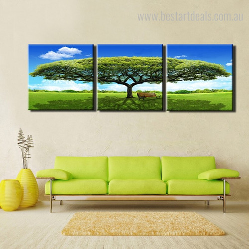 Garth Botanical Nature Landscapes Modern Framed Painting Picture Canvas Print for Living Room Wall Garnish