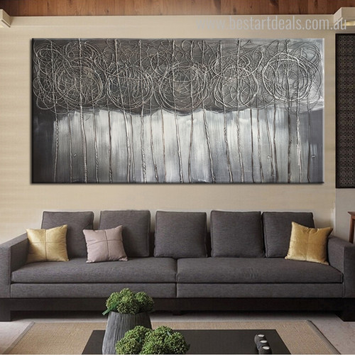 Wiggly Lines Abstract Modern Portmanteau Photo Canvas Print for Lounge Room Wall Decor