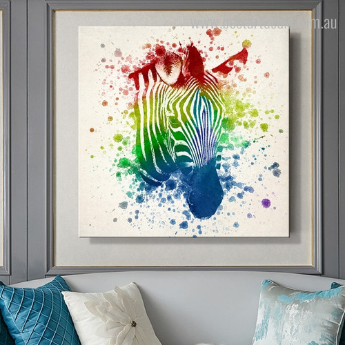Shot Zebra Abstract Modern Framed Effigy Image Canvas Print for Room Wall Outfit