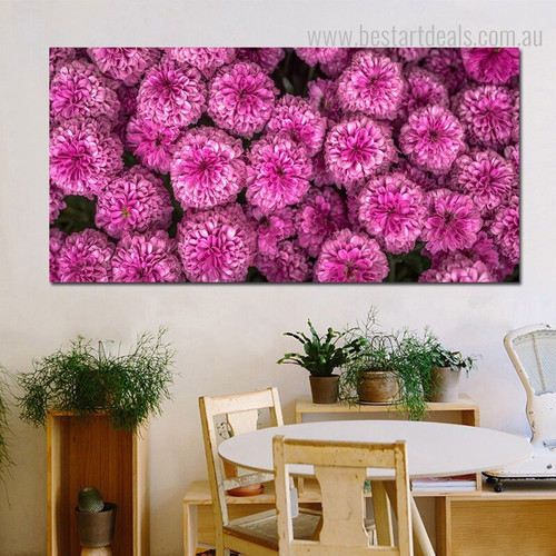 Chrysanthemum Modern Botanical Painting Photo Canvas Print for Room Wall Tracery