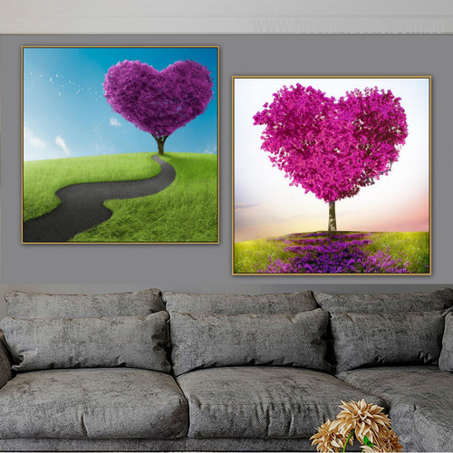 Twirl Route Modern Floral Framed Painting Photo Canvas Print for Living Room Wall Assortment