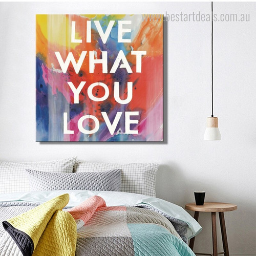 What Love Contemporary Framed Painting Image Canvas Print for Room Wall  Adornment