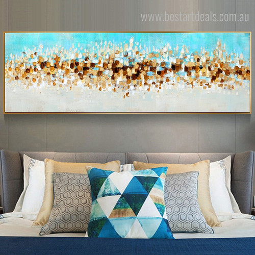 Money Abstract Large Panoramic Framed Painting Image Canvas Print for Bedroom Wall Decor