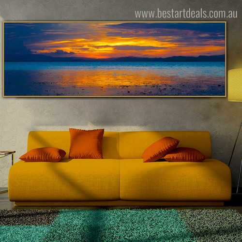 Daybreak Modern Landscape Panoramic Painting Portrait Canvas Print for Room Wall Assortment