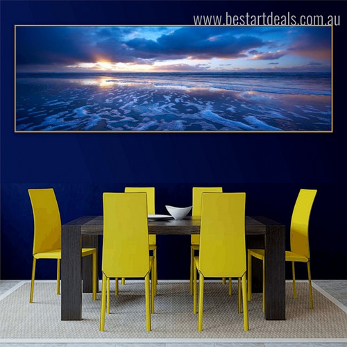 Sunshine Modern Landscapes Panoramic Painting Picture Canvas Print for Dining Room Wall Outfit