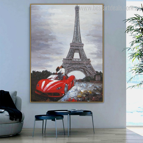 Gallants Abstract Modern Cityscape Framed Canvas Artwork Picture Print for Room Wall Decor