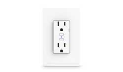 iDevices Wall Outlet, In-Wall, Connected, Voice Control, Wi-Fi, Smart Home, Amazon Alexa, Google Assistant, Apple HomeKit, iOS, Samsung, Siri