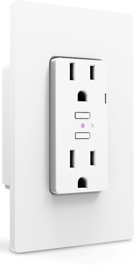 iDevices Wall Outlet, Smart Home, In-Wall, Connected, Outlet, Google Assistant, Apple HomeKit, Amazon Alexa, Siri, Wi-Fi