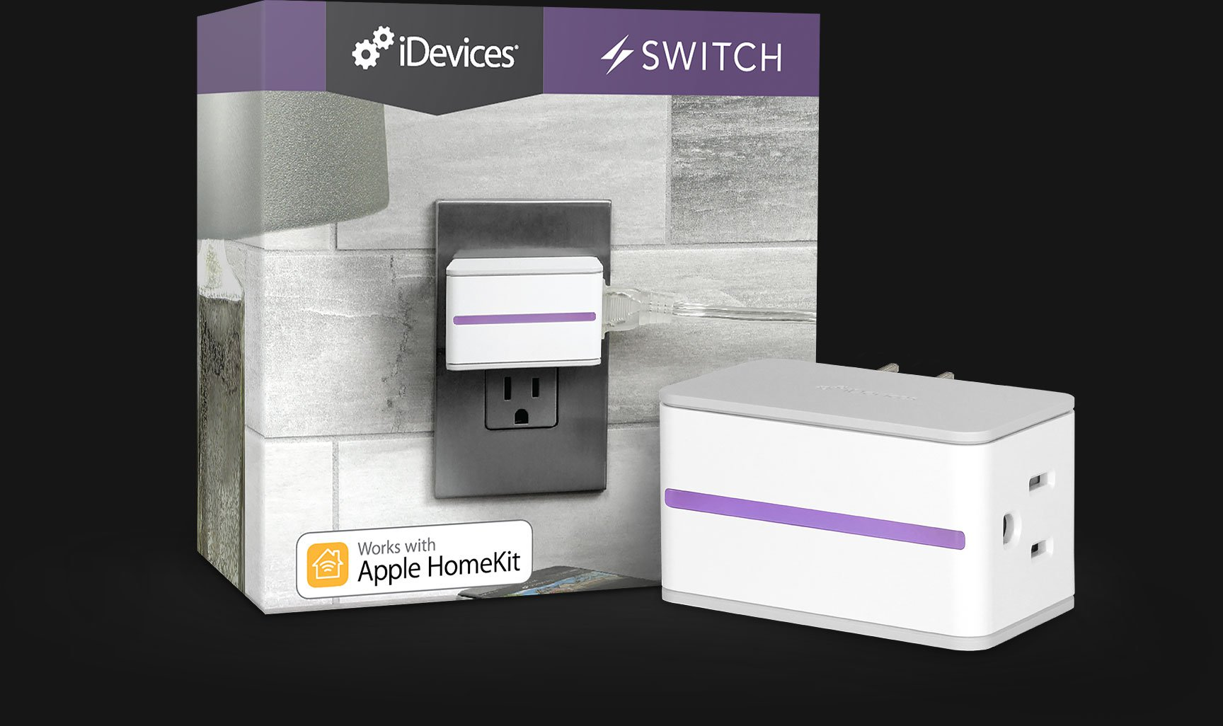 iDevices Switch, Smart Plug, Plug and Play, Apple HomeKit, Amazon Alexa, Google Assistant, iOS, Samsung, Smart Home, Connected, Voice Control, Siri, Switch on your home, automated, App Store, Google Play