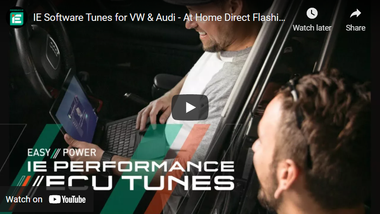 IE Software Tunes for VW & Audi - At Home Direct Flashing!