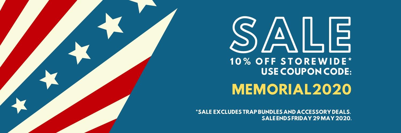 megacatch memorial day sale 10% off storewide
