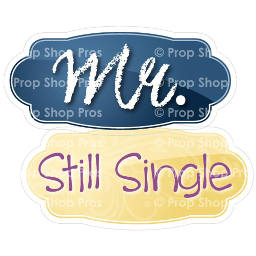 Prop Shop Pros Wedding Photo Booth Props Mr& Still Single