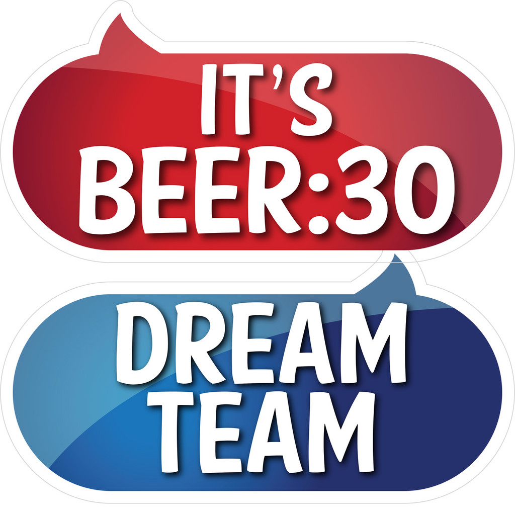 Prop Shop Pros Corporate Photo Booth Props It's Beer 30 & Dream Team