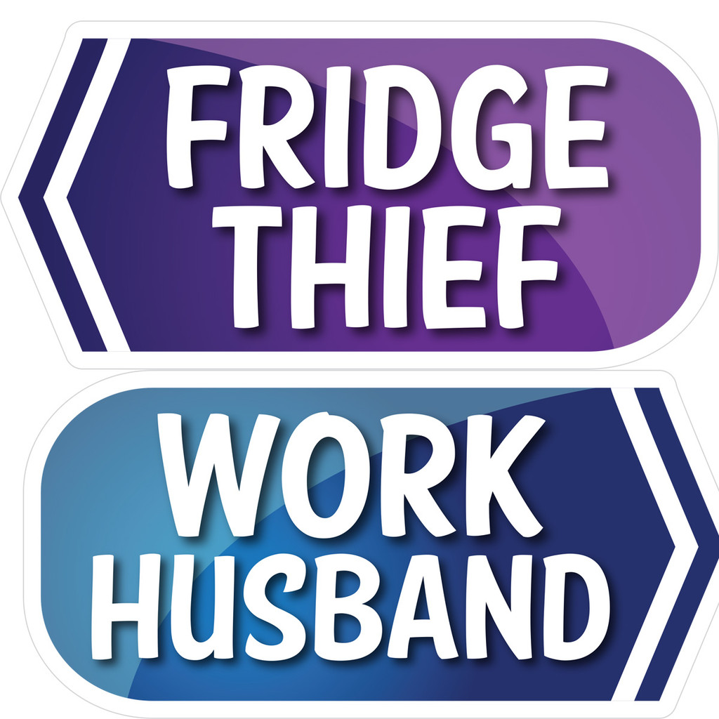 Prop Shop Pros Corporate Photo Booth Props Fridge Thief & Work Husband