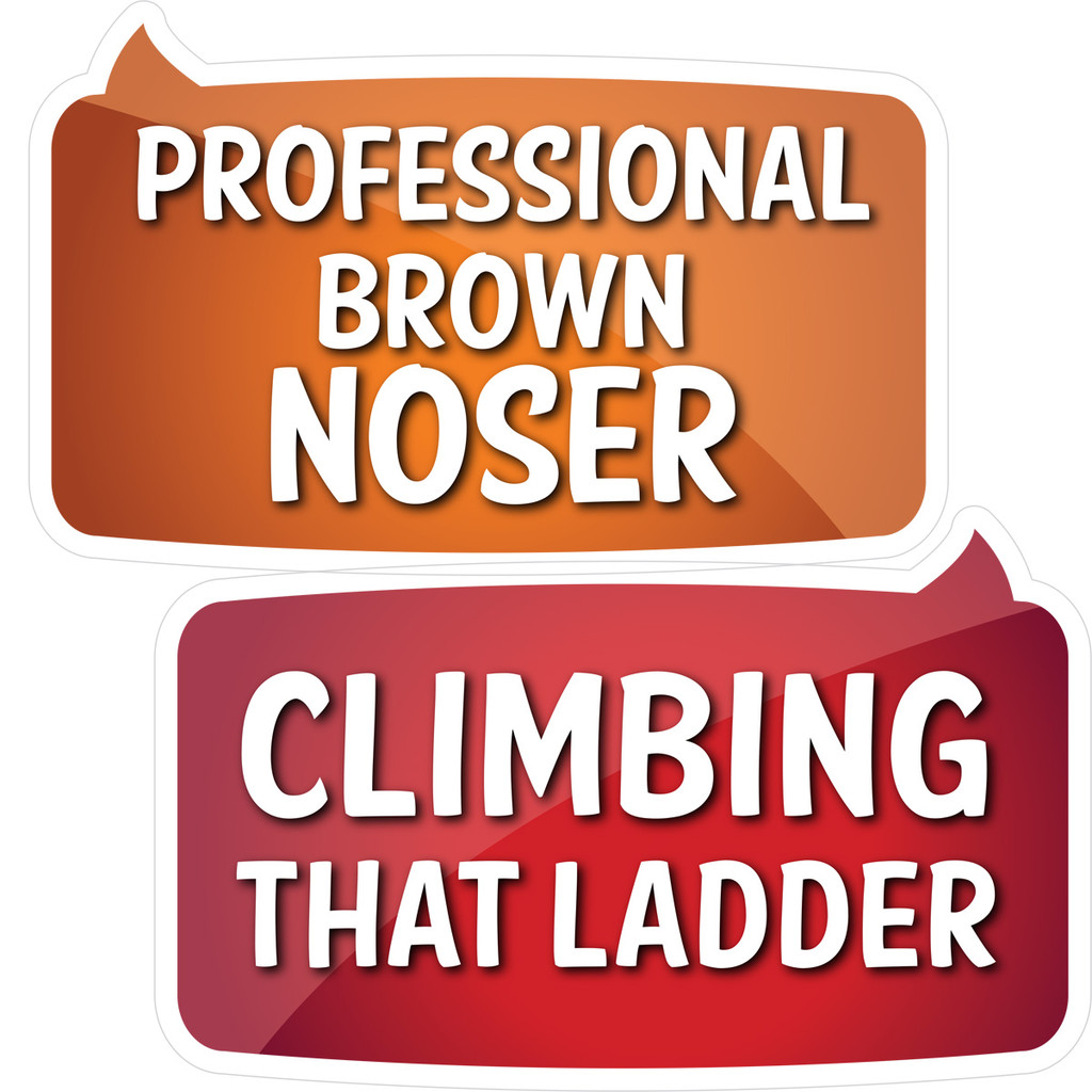 Prop Shop Pros Corporate Photo Booth Props Professional Brown Noser & Climbing That Ladder